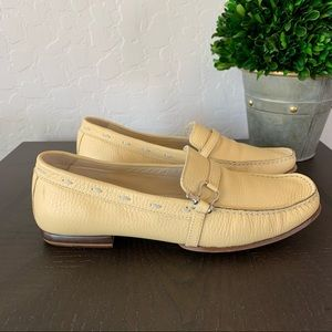 Burberry Yellow Pastel Leather Loafers Flats